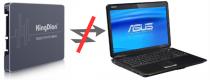 Новый SSD на старый Asus K50IN